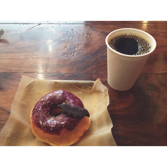 Booberry donut from District