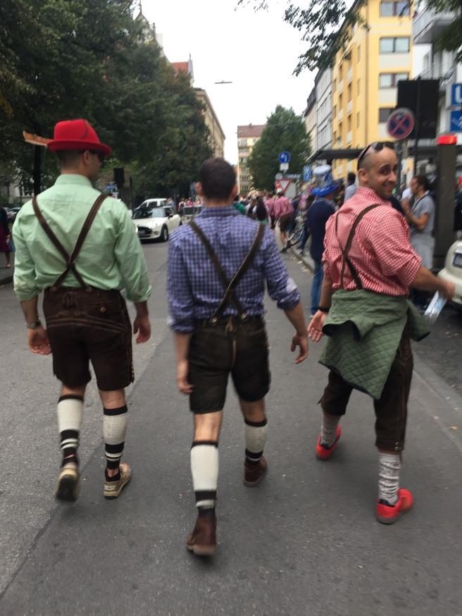 Three dudes at Oktoberfest